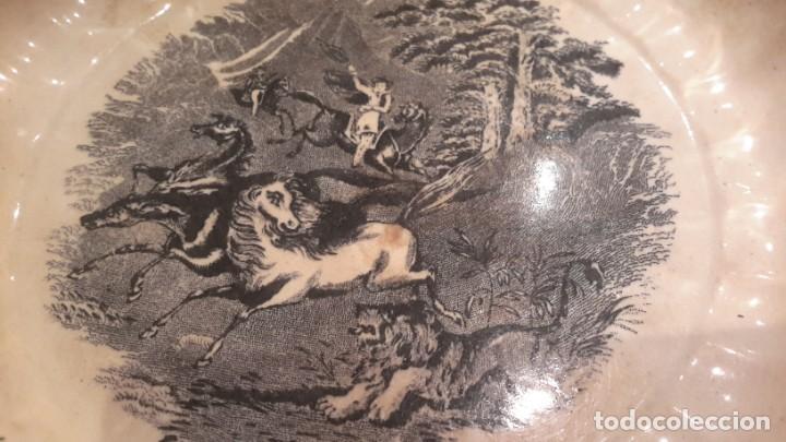 Antigüedades: LOZA DE CARTAGENA. FAB. LA AMISTAD. FUENTE HONDA POLILOBULADA. - Foto 10 - 205684491