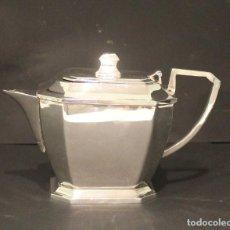 Antigüedades: JARRA PARA CAFÉ O TÉ DE ALPACA. DIMENSIONES 24 CM X 18 CM. Lote 205687455
