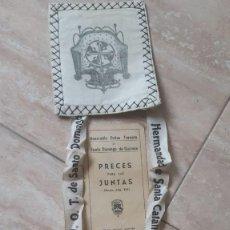 Antigüedades: ESCAPULARIO ANTIGUO VENERABLE ORDEN TERCERA SANTO DOMINGO DE GUZMAN ALMAGRO 17 X 15. Lote 205697733