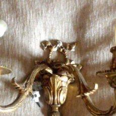Antigüedades: ~~~~ ANTIGUO Y DECORATIVO APLIQUE DE PARED DE BRONCE, MIDE 27 X 15 CM.~~~~. Lote 205699177