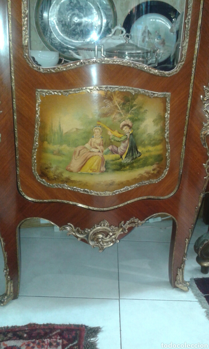 Antigüedades: Vitrina estilo Luis XV de muebles Ricardo Soriano Cerdan - Foto 4 - 205705092