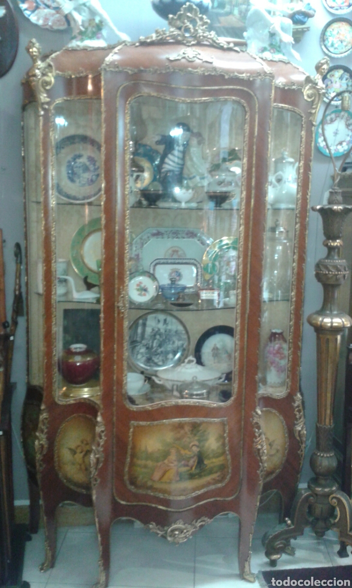 Antigüedades: Vitrina estilo Luis XV de muebles Ricardo Soriano Cerdan - Foto 3 - 205705092