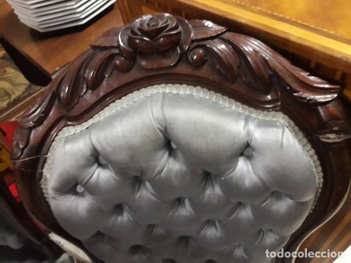 Antigüedades: 4 sillas Isabelinas - Foto 4 - 205705307
