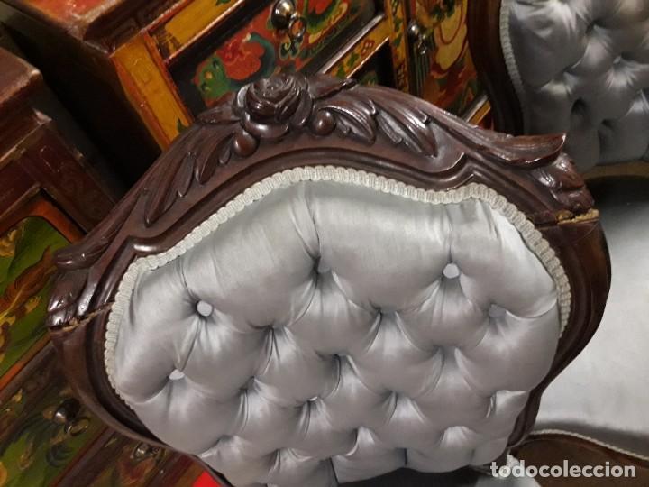 Antigüedades: 4 sillas Isabelinas - Foto 5 - 205705307