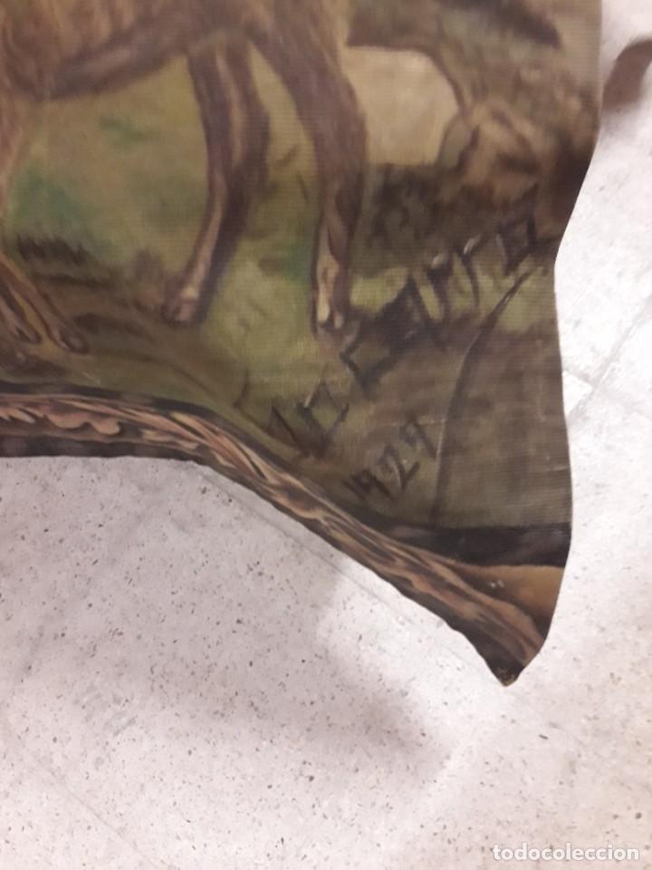 Antigüedades: Tapiz pintado a mano - Foto 2 - 205706061
