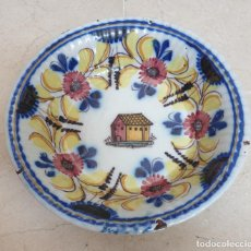 Antigüedades: EXCEPCIONAL PLATO,FUENTE GALLONADA EN CERAMICA DE TALAVERA,(TOLEDO),S. XIX. Lote 205706121