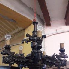 Antigüedades: LAMPARA DE MADERA. Lote 205708165