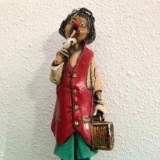 Antigüedades: PRECIOSA FIGURA DE PAYASO. Lote 205710967