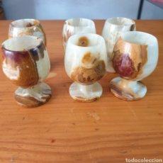 Antigüedades: 6 CUPAS DE MÁRMOL EN BUEN ESTADO. Lote 205718362