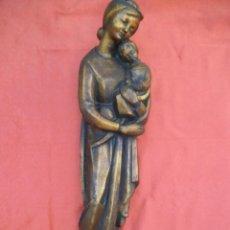 Antigüedades: VIRGEN MARÍA CON EL NIÑO JESÚS EN ESCAYOLA, AÑOS 50-60.. Lote 205722083