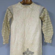 Antigüedades: VESTIDO PARA VIRGEN CON ATRIBUTOS DE LA PASION BORDADOS. SIGLO XIX. Lote 205730537