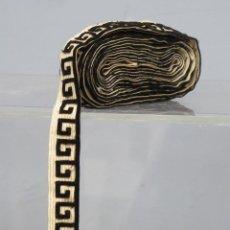Antigüedades: ENCAJE CON MOTIVOS CLASICOS DE TERCIOPELO. FINALE SIGLO XIX. Lote 205733076
