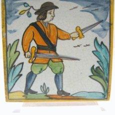 Antigüedades: ANTIGUA RAJOLA OFICIS . DE FULLES . BANDOLERO PERFECTO ESTADO!. AZULEJO BALDOSA OFICIOS. Lote 205733213