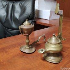Antigüedades: LAMPARILLAS ANTIGUAS DE BRONCE.. Lote 205739828