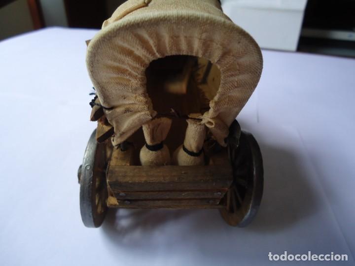 Antigüedades: CARAVANA. ANTIGUA HECHA A MANO MADERA Y LONA GRUESA. RÉPLICA EXACTA A LAS DEL FAR WEST - Foto 4 - 205740782