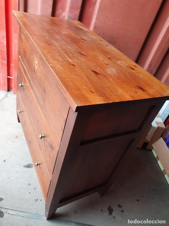 Antigüedades: Comoda con secreter interior y cajones de madera maciza inglesa años 60 - Foto 9 - 205743495