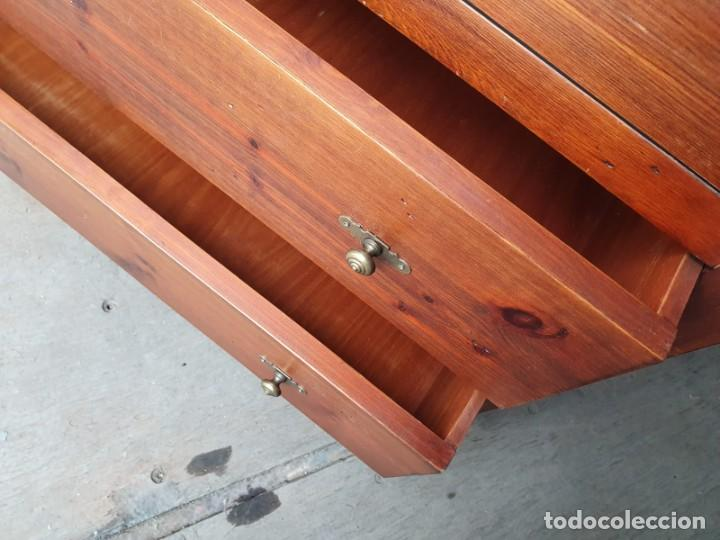 Antigüedades: Comoda con secreter interior y cajones de madera maciza inglesa años 60 - Foto 10 - 205743495