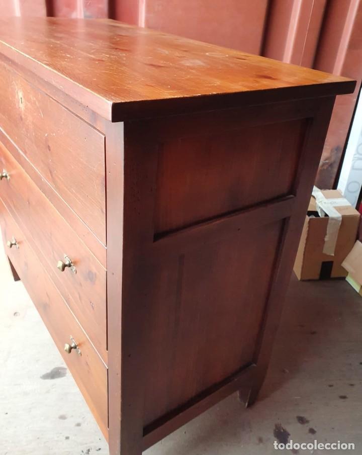 Antigüedades: Comoda con secreter interior y cajones de madera maciza inglesa años 60 - Foto 2 - 205743495