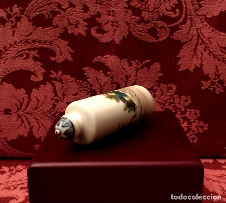 Antigüedades: PERFUMERO PORCELANA PINTADO A MANO CON ESCENA DE NIÑOS - FIRMADO. - Foto 7 - 205748947