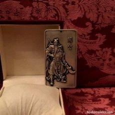 Antigüedades: GRAN COLGANTE EN PLATA MIAO CON DIOS DE LA PROSPERIDAD - 164 GRAMOS. Lote 205751408