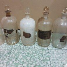 Antigüedades: LOTE ANTIGUOS FRASCOS PARA MEDICAMENTOS FARMACIA. Lote 205752835