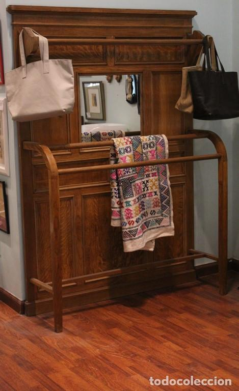 Antigüedades: Mueble de recibidor de madera: duramen de castaño 188 x 127 x 40 cm - Foto 2 - 205753011