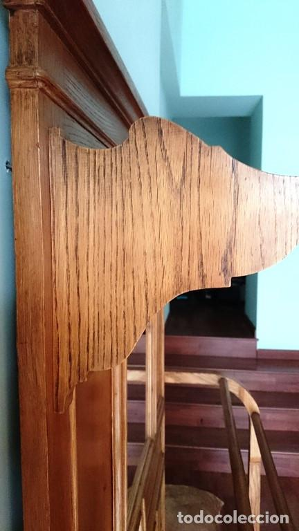 Antigüedades: Mueble de recibidor de madera: duramen de castaño 188 x 127 x 40 cm - Foto 5 - 205753011