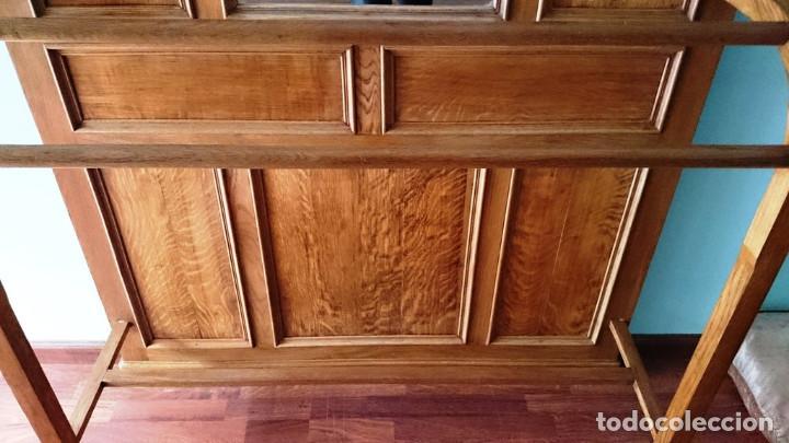 Antigüedades: Mueble de recibidor de madera: duramen de castaño 188 x 127 x 40 cm - Foto 7 - 205753011