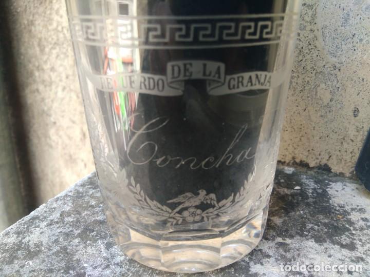 Antigüedades: MAGNÍFICO VASO DE LA GRANJA - SIGLO XIX - CRISTAL TALLADO Y GRABADO AL ÁCIDO - LA CASCADA - GRECAS - Foto 4 - 205763172