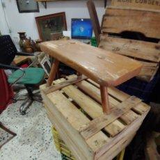 Antigüedades: BANQUETA DE ORDEÑO. Lote 205766182