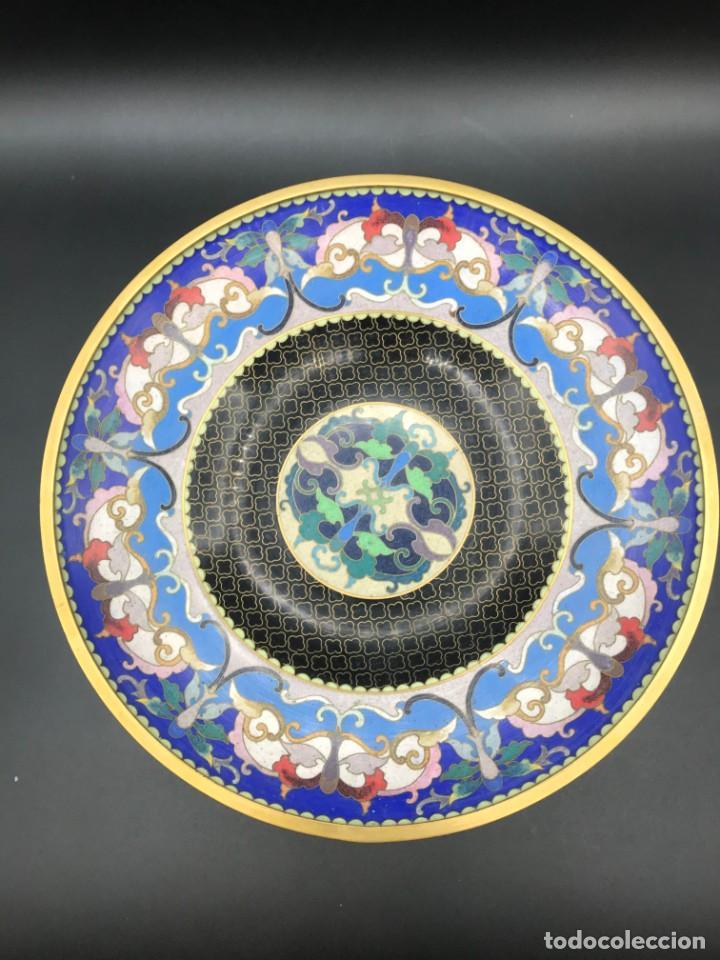 Antigüedades: Centro cloisonné - Foto 2 - 205768226