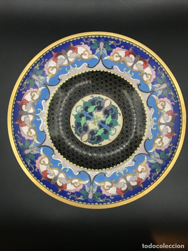 Antigüedades: Centro cloisonné - Foto 3 - 205768226
