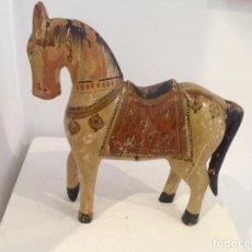 Antigüedades: CABALLO DE MADERA. Lote 205770175