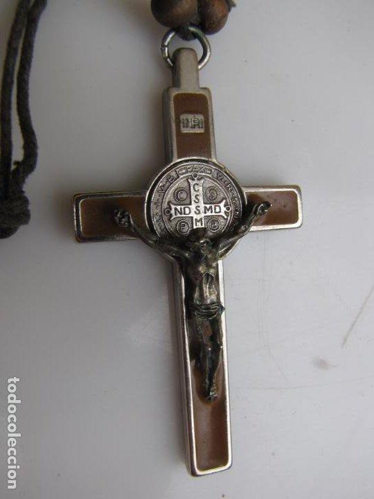 Antigüedades: 3- Cruz de exorcismo. San Benedicto. ;Bronce plateado y esmalte - Foto 9 - 205772542