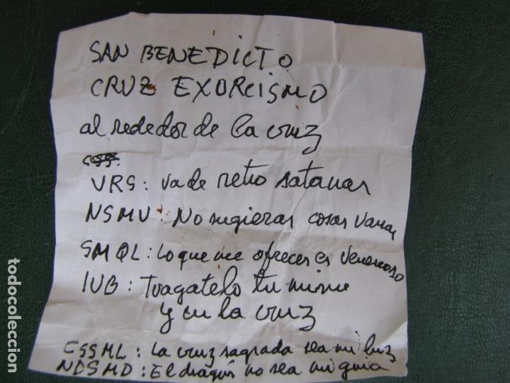 Antigüedades: 3- Cruz de exorcismo. San Benedicto. ;Bronce plateado y esmalte - Foto 13 - 205772542