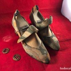 Antigüedades: ZAPATOS DE MUJER TERMINADOS EN SU HORMA. Lote 205775082
