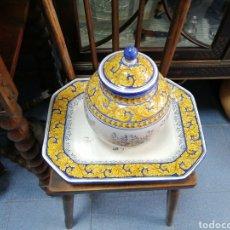 Antigüedades: BANDEJA Y TIBOR TALAVERA.. Lote 205775562