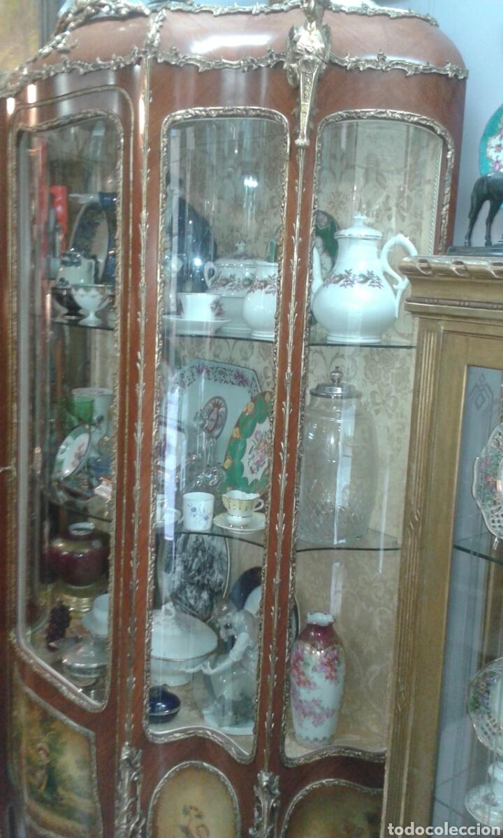 Antigüedades: Vitrina estilo Luis XV de muebles Ricardo Soriano Cerdan - Foto 10 - 205705092