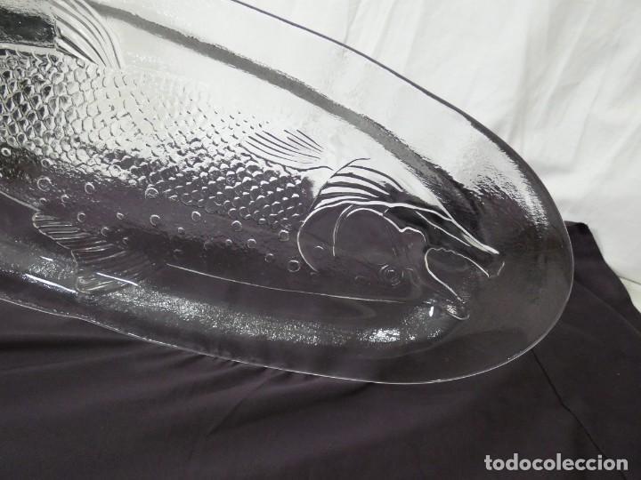 Antigüedades: preciosa fuente de cristal para pescado ivv - gran tamaño - Foto 3 - 205789508