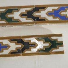 Antigüedades: AZULEJOS DE ALIZAR EN CUERDA SECA, TRIANA MENSAQUE. Lote 205796985