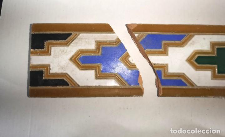 Antigüedades: AZULEJOS DE ALIZAR EN CUERDA SECA, TRIANA MENSAQUE - Foto 7 - 205796985