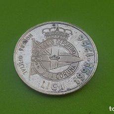 Antigüedades: MONEDA OFICIAL DE PLATA DEL DEPORTIVO DE LA CORUÑA 1995-1996 ( BRANCO MILOVANOVIC). Lote 205800800