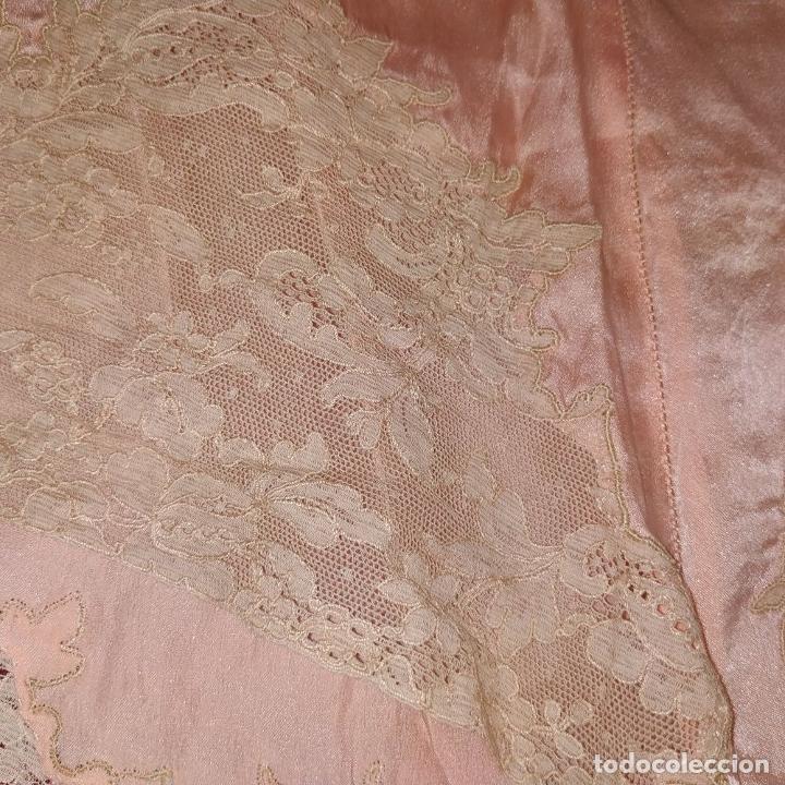 Antigüedades: POLOLOS PARA DAMA. SEDA. CON APLICACION DE ENCAJE DE BLONDA. ESPAÑA. PRINCIPIO SIGLO XX - Foto 11 - 205800812