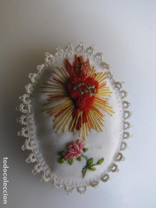 Antigüedades: 3- Detente Italiano con oración. Corazón de Jesús: FERMA! - Foto 2 - 205804692