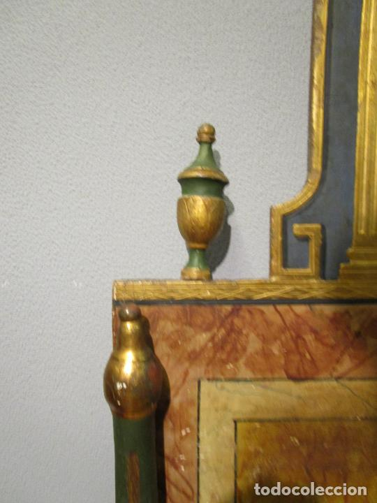 Antigüedades: Antigua Cama de Olot - Estilo Neoclásico -Escena de San Francisco, con Inscripción -Finales S. XVIII - Foto 10 - 205806638