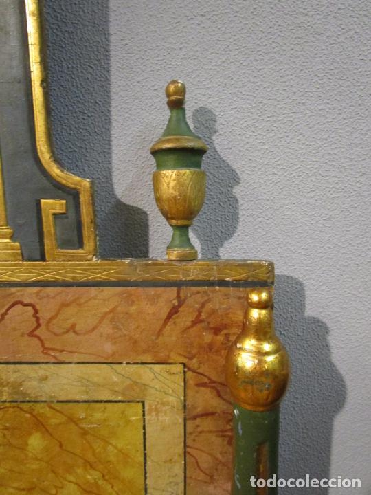 Antigüedades: Antigua Cama de Olot - Estilo Neoclásico -Escena de San Francisco, con Inscripción -Finales S. XVIII - Foto 11 - 205806638