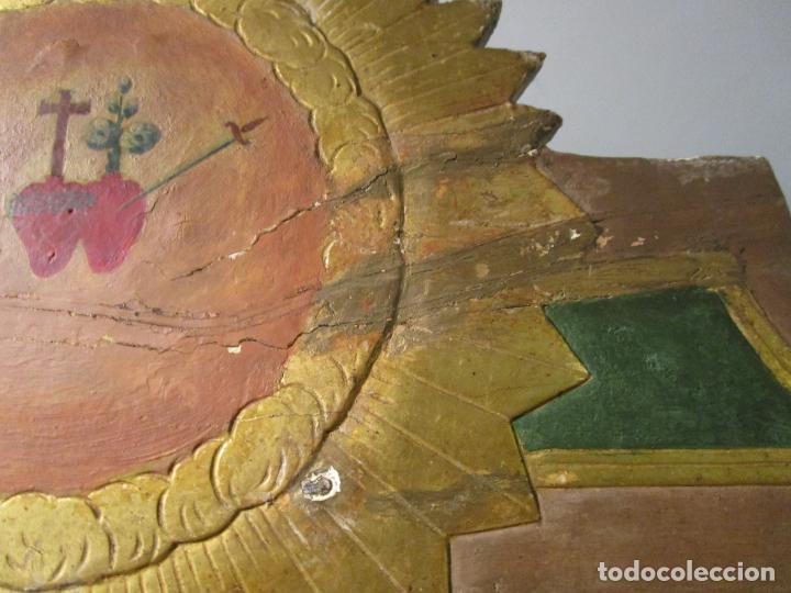 Antigüedades: Antigua Cama de Olot - Estilo Neoclásico -Escena de San Francisco, con Inscripción -Finales S. XVIII - Foto 17 - 205806638