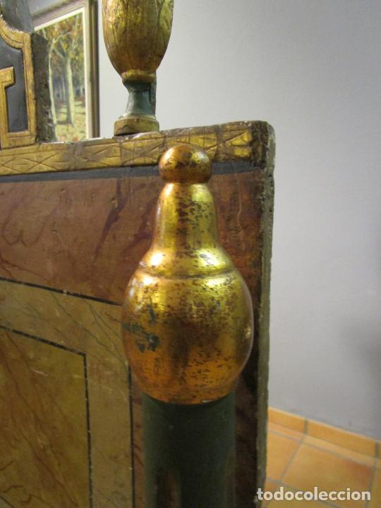 Antigüedades: Antigua Cama de Olot - Estilo Neoclásico -Escena de San Francisco, con Inscripción -Finales S. XVIII - Foto 27 - 205806638