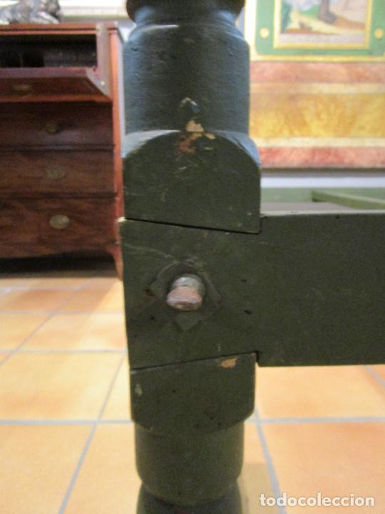 Antigüedades: Antigua Cama de Olot - Estilo Neoclásico -Escena de San Francisco, con Inscripción -Finales S. XVIII - Foto 28 - 205806638