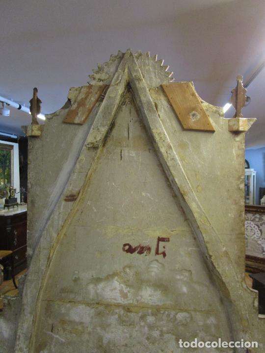 Antigüedades: Antigua Cama de Olot - Estilo Neoclásico -Escena de San Francisco, con Inscripción -Finales S. XVIII - Foto 29 - 205806638